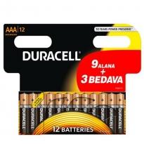 Duracell Alkalin Pil AAA 12'' li Paket