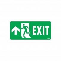Exit Yukarı Sol Ok İşaretli Uyarı Levhası 17,5x25 KOD:956