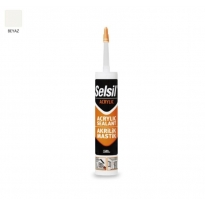 Selsil Akrilik Mastik Beyaz 510 gr