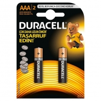 Duracell Alkalin Pil AAA 2'' li Paket