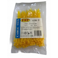 FRT Sarı 2,5x100 Kablo Bağı