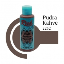 Rich Multi Surface 2252 Pudra Kahve Akrilik Boya 120 cc