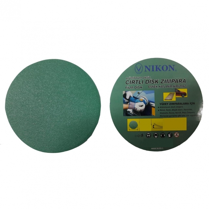 Nikon 52033 Kırılmaz Yeşil Cırt Zımpara 115X320 Kum