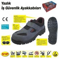 414 YAZLIK S1 44 No Çelik Burunlu Ayakkabı