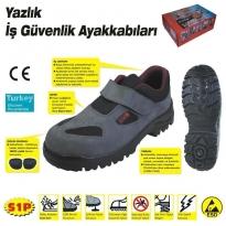 414 YAZLIK S1 43 No Çelik Burunlu Ayakkabı