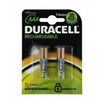 Duracell ޞarjedilebilir İnce Kalem Pil 2'li AAA 750 mAh