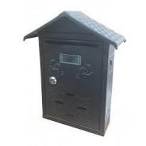 Posta Kutusu Çatılı Siyah